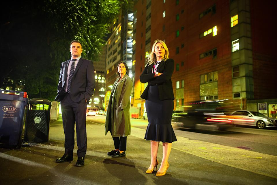WARNING: Embargoed for publication until 00:00:01 on 28/09/2021 - Programme Name: Catching a Predator - TX: n/a - Episode: Catching a Predator (No. n/a) - Picture Shows: DI Matt Gregory, DC Dorothy Orr & DS Kimberley Hames-Evans    - (C) Minnow Films - Photographer: Joel Goodman