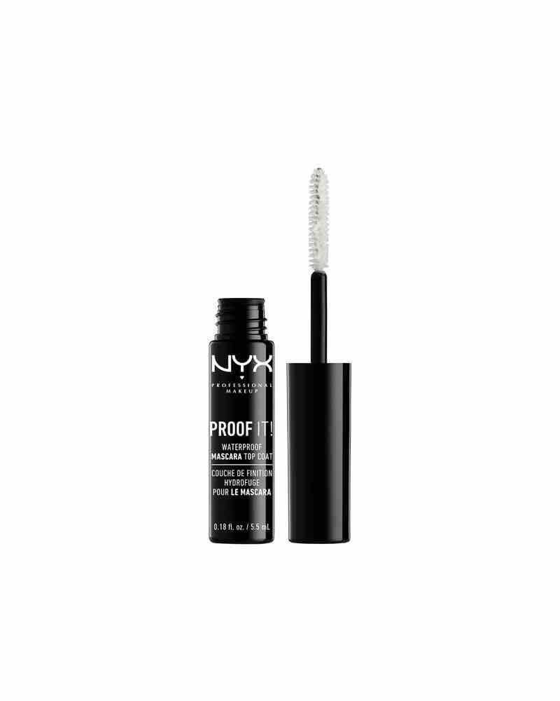 """<p><strong>NYX Professional Makeup</strong></p><p>cvs.com</p><p><strong>$7.49</strong></p><p><a href=""""https://go.redirectingat.com?id=74968X1596630&url=https%3A%2F%2Fwww.cvs.com%2Fshop%2Fnyx-professional-makeup-proof-it-waterproof-mascara-top-coat-prodid-1090449&sref=https%3A%2F%2Fwww.oprahmag.com%2Fbeauty%2Fskin-makeup%2Fg31101896%2Fbest-sweat-proof-makeup-products%2F"""" rel=""""nofollow noopener"""" target=""""_blank"""" data-ylk=""""slk:SHOP NOW"""" class=""""link rapid-noclick-resp"""">SHOP NOW</a></p><p>When it comes to eye makeup, any <a href=""""https://www.oprahmag.com/beauty/skin-makeup/g31020198/best-waterproof-mascara/"""" rel=""""nofollow noopener"""" target=""""_blank"""" data-ylk=""""slk:waterproof mascara"""" class=""""link rapid-noclick-resp"""">waterproof mascara</a> should do the trick, says Sawyer. But for extra protection against smudging, swipe lashes with this top coat. </p>"""