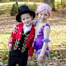 """<p>With all the costumes, junk food, and chaos, Halloween can sometimes feel like a circus. Lean into that by dressing the kids as P.T. Barnum and company from T<em>he Greatest Showman</em>. </p><p><a class=""""link rapid-noclick-resp"""" href=""""https://www.amazon.com/Funny-Party-Hats-Top-Toddler/dp/B07Q1MFJV5/?tag=syn-yahoo-20&ascsubtag=%5Bartid%7C10055.g.33300912%5Bsrc%7Cyahoo-us"""" rel=""""nofollow noopener"""" target=""""_blank"""" data-ylk=""""slk:SHOP TOP HATS"""">SHOP TOP HATS</a></p><p><em><a href=""""https://www.unoriginalmom.com/diy-greatest-showman-costumes-pt-barnum/"""" rel=""""nofollow noopener"""" target=""""_blank"""" data-ylk=""""slk:Get the tutorial at Unoriginal Mom »"""" class=""""link rapid-noclick-resp"""">Get the tutorial at Unoriginal Mom »</a></em> </p>"""