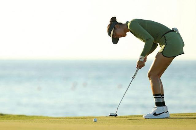 Michelle Wie has a new putting stance, ditching the Table Top method. (Getty Images)