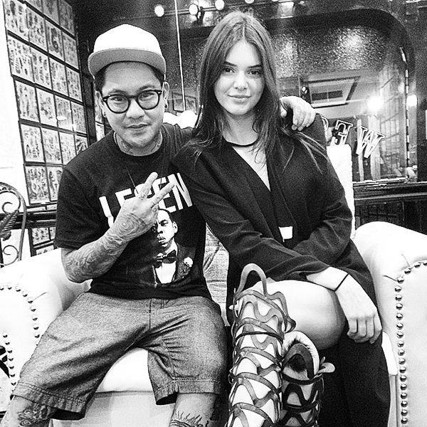 "<p>New York City <a href=""https://instagram.com/jonboytattoo/"">tattoo artist Jon Boy,</a> pictured here, gave model Kendall Jenner her first tattoo earlier this year. Per the trend, it's as small, simple, and graphical it gets: a single white ink dot on her middle finger.<i> (Photo: <a href=""https://instagram.com/jonboytattoo"">JonBoyTattoo/Instagram</a>)</i></p>"