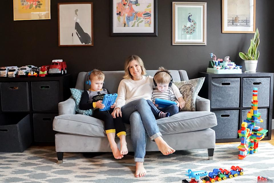 """""""You Can't F*ck Up Your Kids"""" author Lindsay Powers and her sons. (Brad Eichmann)"""