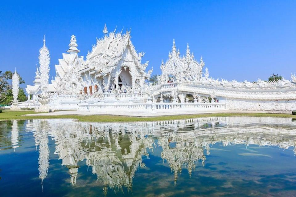 Wat Rong Khun Temple is in Chiang Rai in northern Thailand (Alamy/PA)