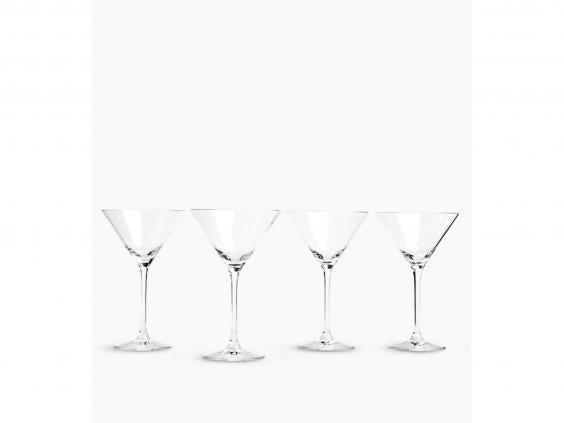 This inexpensive set of four glasses is perfect for entertaining guests (M&S)