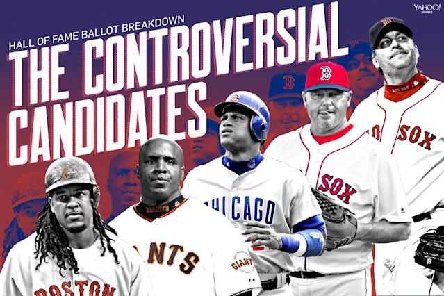 There are a lot of players eligible for the Hall of Fame whose candidacies are shrouded in controversy. (Amber Matsumoto/Yahoo Sports)