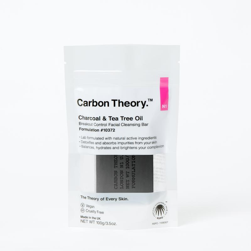 Carbon Theory's Breakout Control Facial Cleansing Bar is available at Priceline after selling out. Photo: Supplied