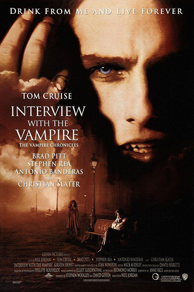 """<p><a class=""""link rapid-noclick-resp"""" href=""""https://www.amazon.com/Interview-Vampire-Chronicles-Tom-Cruise/dp/B003DDKAT2/?tag=syn-yahoo-20&ascsubtag=%5Bartid%7C10050.g.22103622%5Bsrc%7Cyahoo-us"""" rel=""""nofollow noopener"""" target=""""_blank"""" data-ylk=""""slk:STREAM NOW"""">STREAM NOW</a><br></p><p>Catch Tom Cruise, Brad Pitt, Antonio Banderas, Christian Slater, and a young Kirsten Dunst in this star-studded movie about a man who is lured into becoming an immortal vampire after he loses everything.</p>"""