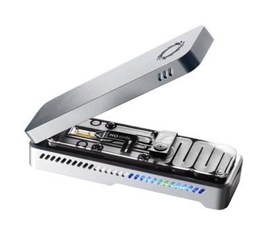 Each MinION sequencer is approximately the size of a stapler, and can provide rapid sequence information about the coronavirus.