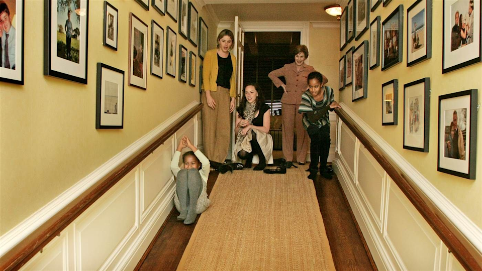 "<p class=""body-dropcap"">In the last few days, a vintage photograph of a young Sasha and Malia Obama being shown a sloped passageway at the White House residence by Jenna and Barbara Bush, with former First Lady Laura Bush in the background, has been making the rounds on social media. It's a joyful scene—Sasha is sliding down an uncarpeted section while Laura looks on beaming. It was taken shortly after the Obamas' father ran a months-long and furious Presidential campaign that placed in its crosshairs pretty much all of the Bushes's father's policies. There are so many scripted elements to the handing of responsibility from one U.S. President to another—speeches, ceremonies, the inauguration—all meant to ensure a peaceful transfer of power. But some of the most reassuring moments in recent memory can be seen in photographs of former Presidents and their families choosing to be more than just civil to each other. Are the hatchets completely buried? It would be maudlin to think so. But it's hard to fake fun.</p>"
