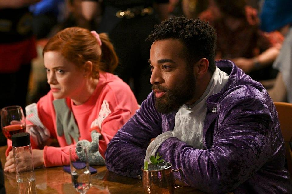 """Jane Levy and John Clarence Stewart in NBC's """"Zoey's Extraordinary Playlist,"""" a two-time Save Our Shows winner."""
