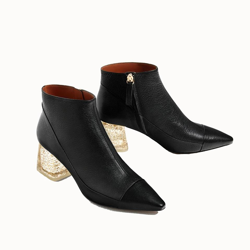 <p>These leather ankle boots will go with everything – and add a little sparkle to the recipient's outfit, too. </p>