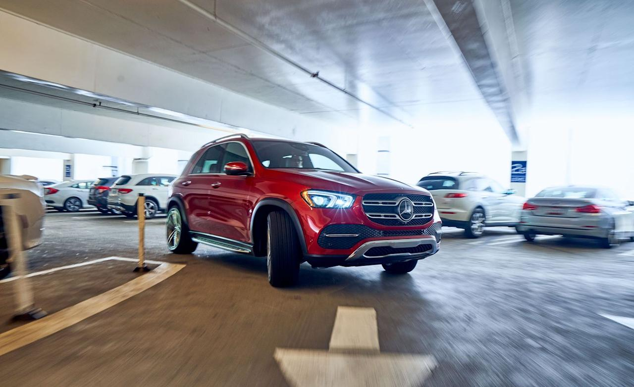 "<p>The latest M-class, now known as <a href=""https://www.caranddriver.com/mercedes-benz/gle-class"" target=""_blank"">the GLE-class</a>, grows longer and wider, with an additional 3.2 inches of wheelbase stretching rear-seat legroom.</p>"