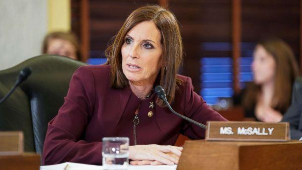 PHOTO: Senator Martha McSally (R-AZ) speaks during a Senate Armed Subcommittee hearing on preventing sexual assault where she spoke about her experience of being sexually assaulted in the military on Capitol Hill, March 6, 2019. (Joshua Roberts/Reuters)