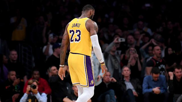 A loss to the Boston Celtics marked the Los Angeles Lakers' fifth straight in the NBA.