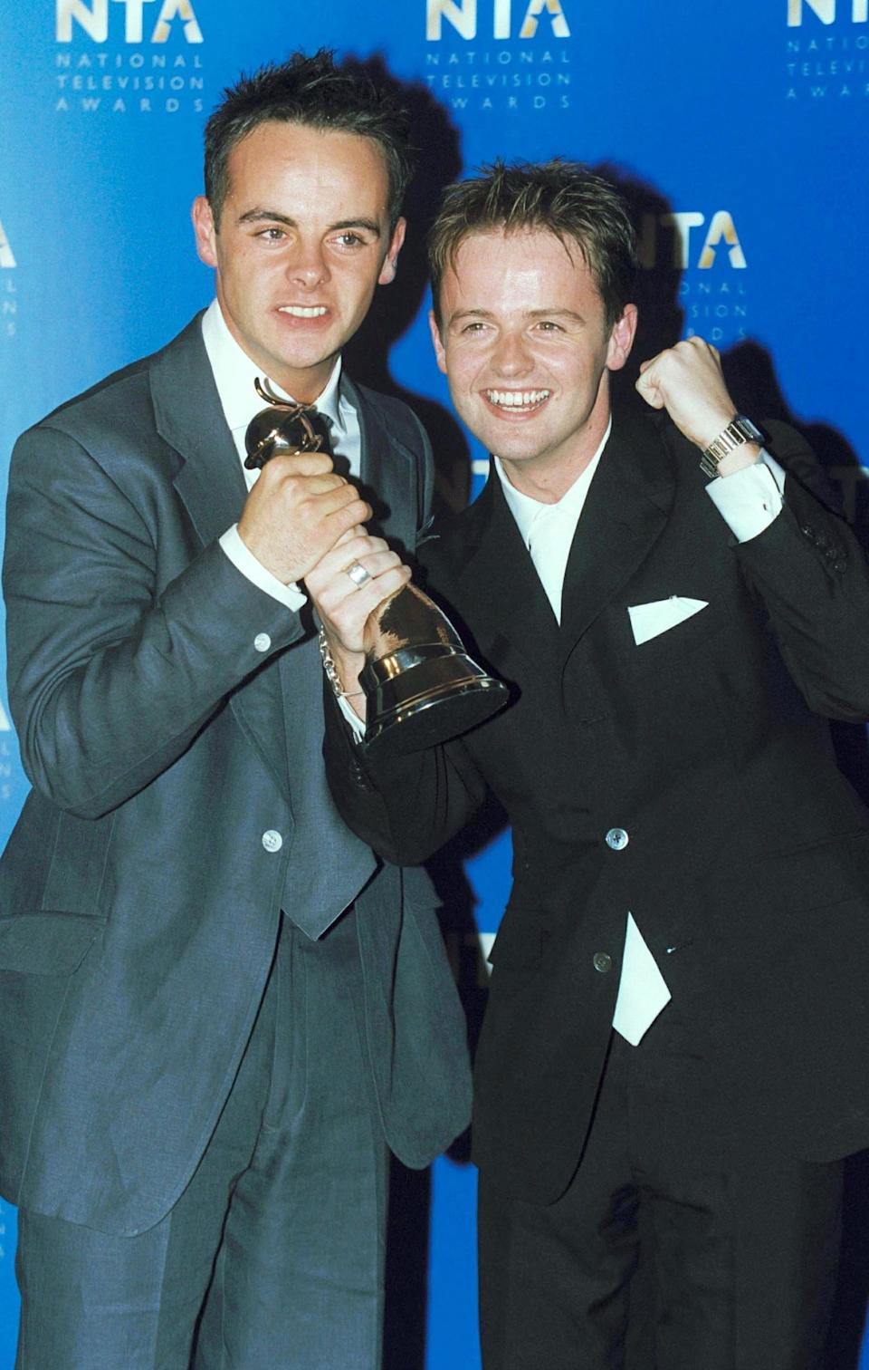 Yes, of course we expect Ant and Dec to win the presenting award every year<i>now</i>, but when they first got the prize in 2001, it was a bit of a shock.<br /><br />First, because they were up against big names like Michael Barrymore, Chris Tennant and Jim Davidson - but also because they were nominated for their work on Saturday morning kids' show, 'SM:tv Live'.