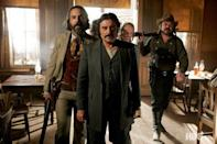 <p><strong><em>Deadwood</em><br><br></strong>This isn't your grandpa's Western. This NSFW HBO drama featured foul-language, graphic violence and some iconic characters and recently gave its fans some much-needed closure with a reunion movie. </p>