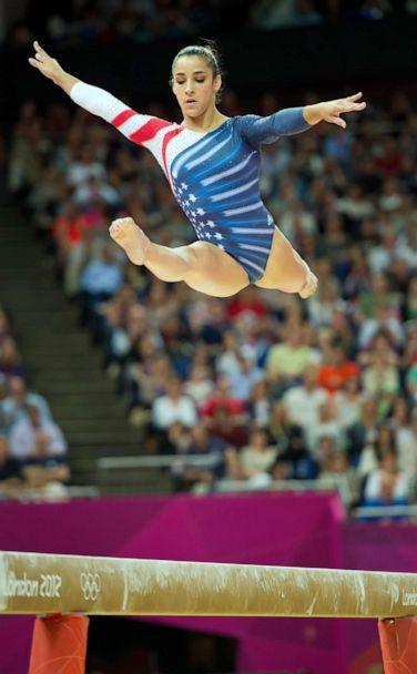 PHOTO: Alexandra Raisman won the bronze medal in the beam apparatus finals at North Greenwich Arena during the 2012 Summer Olympic Games in London, August 7, 2012. (David Eulitt/Kansas City Star/Tribune News Service via Getty Images)