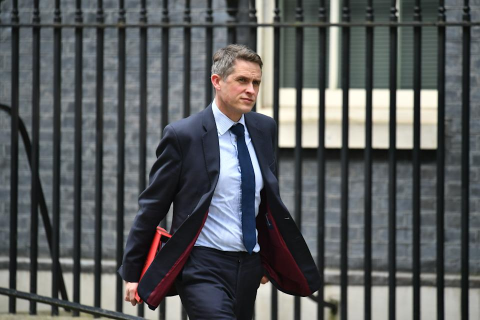 Education Secretary Gavin Williamson leaves 10 Downing Street, London, following a cabinet meeting the day after Prime Minister Boris Johnson called on people to stay away from pubs, clubs and theatres, work from home if possible and avoid all non-essential contacts and travel in order to reduce the impact of the coronavirus pandemic.