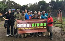 <p>This was taken at the last base camp after we summited Kilimanjaro. This is my crew of friends, along with our guides Jackson, Nas, and Paulo, and a few of our porters and cooks. Our group was amazing. I can't thank these awesome men enough for getting us up the mountain.</p>