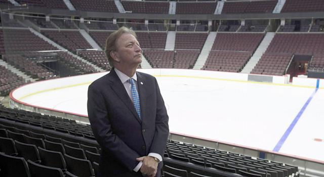 Eugene Melnyk in his element: an empty arena. (Getty Images)