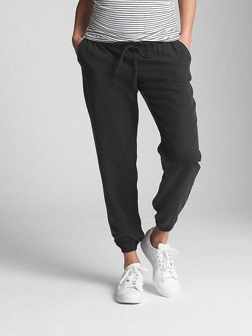 """Extra comfort is key, and these smooth, lightweight sweats are made from soft, sustainable Tencel weave and have an elastic waistband and banded cuffs. $42, Gap. <a href=""""https://www.gap.com/browse/product.do?pid=337598012&pcid=999&vid=1#pdp-page-content"""" rel=""""nofollow noopener"""" target=""""_blank"""" data-ylk=""""slk:Get it now!"""" class=""""link rapid-noclick-resp"""">Get it now!</a>"""