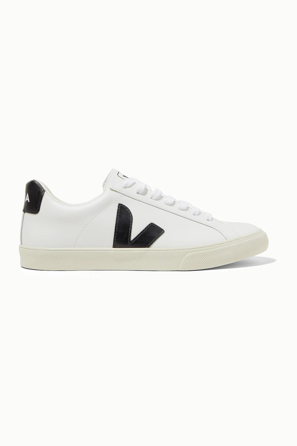 """<p><strong>Veja</strong></p><p>net-a-porter.com</p><p><strong>$120.00</strong></p><p><a href=""""https://go.redirectingat.com?id=74968X1596630&url=https%3A%2F%2Fwww.net-a-porter.com%2Fen-us%2Fshop%2Fproduct%2Fveja%2Fnet-sustain-esplar-rubber-trimmed-leather-sneakers%2F1187329&sref=https%3A%2F%2Fwww.cosmopolitan.com%2Fstyle-beauty%2Ffashion%2Fg13602855%2Fbest-gift-ideas-for-women%2F"""" rel=""""nofollow noopener"""" target=""""_blank"""" data-ylk=""""slk:Shop Now"""" class=""""link rapid-noclick-resp"""">Shop Now</a></p><p>For the casual kick-wearing folks, these clean sneakers by Veja will be right at the top of their wish list.</p>"""