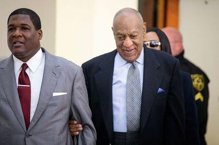 Comedian and actor Bill Cosby arrives at the Montgomery County courthouse in Norristown
