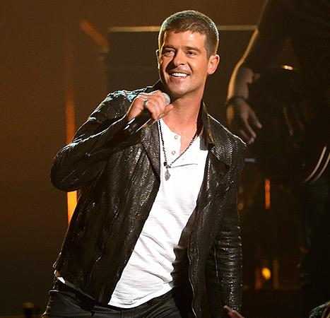 Robin Thicke Pleads Onstage to Win Back Estranged Wife Paula Patton at the 2014 Billboard Music Awards