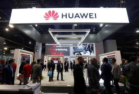 Huawei booth during the 2019 CES in Las Vegas Nevada U.S. Jan. 9 2019. REUTERS  Steve Marcus  File
