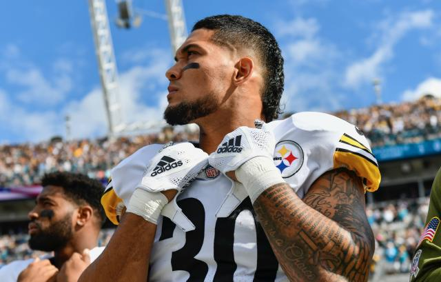James Conner revealed just how close he was to death when talking about his bout with cancer as a college student. (Getty)