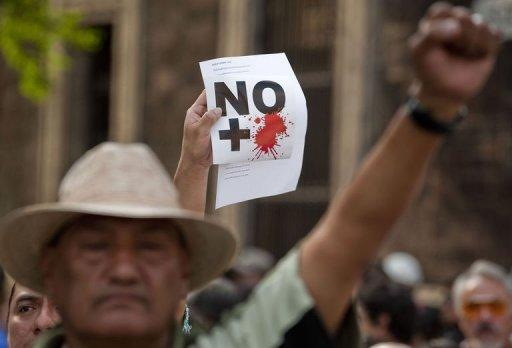 Thousands took to the streets of 38 Mexican cities to protest against violence linked to the illegal drug trade