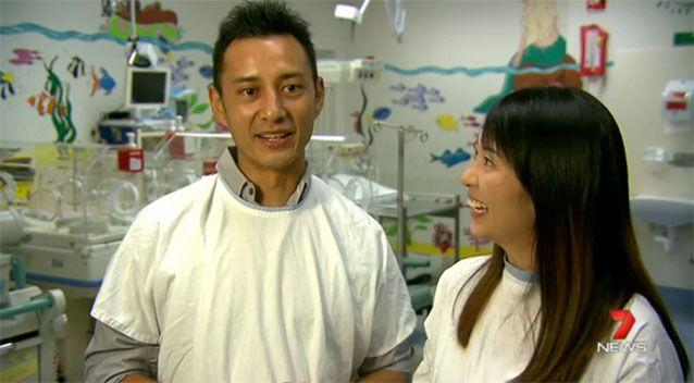 Dad, Glen Tan, says he is definitely outnumbered by girls in his family. Photo: 7 News