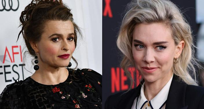 Helena Bonham Carter and Vanessa Kirby have both starred as Princess Margaret in 'The Crown'. (Photo by Willy Sanjuan/Invision/AP. Chris Delmas/AFP via Getty Images)