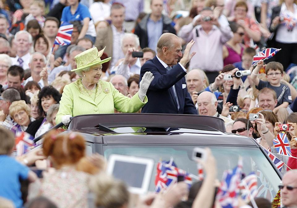 The Queen and Philip tour the grounds of Stormont in Belfast, during a Diamond Jubilee tour of Northern Ireland.PA Archive