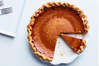 "This take on classic pumpkin pie has gentle, balanced spicing and a bit of tang from sour cream. (Yes, there's bourbon in there, too.) <a href=""https://www.epicurious.com/recipes/food/views/bourbon-pumpkin-pie-356090?mbid=synd_yahoo_rss"" rel=""nofollow noopener"" target=""_blank"" data-ylk=""slk:See recipe."" class=""link rapid-noclick-resp"">See recipe.</a>"