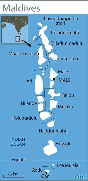 The Maldives is a tropical nation made up of 26 coral atolls
