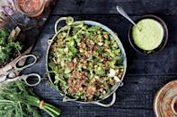 """Don't obsess over getting these exact ingredients. Any nut you like will work for crunch and any mix of aromatic herbs will do. Use grains that suit you and make the mix as light or substantial as you like. <a href=""""https://www.epicurious.com/recipes/food/views/farmers-market-quinoa-salad-56389873?mbid=synd_yahoo_rss"""" rel=""""nofollow noopener"""" target=""""_blank"""" data-ylk=""""slk:See recipe."""" class=""""link rapid-noclick-resp"""">See recipe.</a>"""