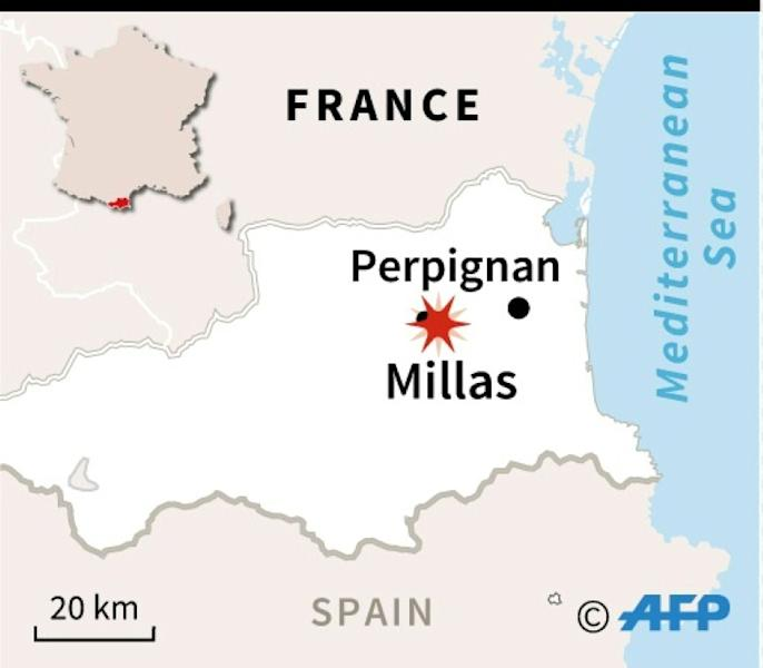 The train crashed into a bus at a level crossing in Millas, near Perpignan in southern France