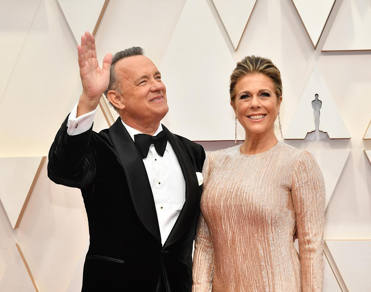 Tom Hanks and Rita Wilson attend the 92nd Annual Academy Awards at Hollywood and Highland on February 09, 2020 in Hollywood, California.
