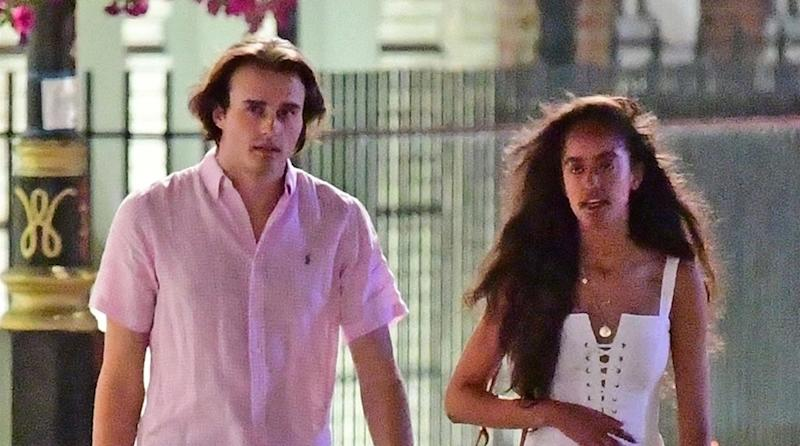Malia Obama and her boyfriend Rory Farquahson are enjoying some time together on stroll through the streets of Mayfair on Thursday evening, July 26, 2018. (Photo: BACKGRID USA)