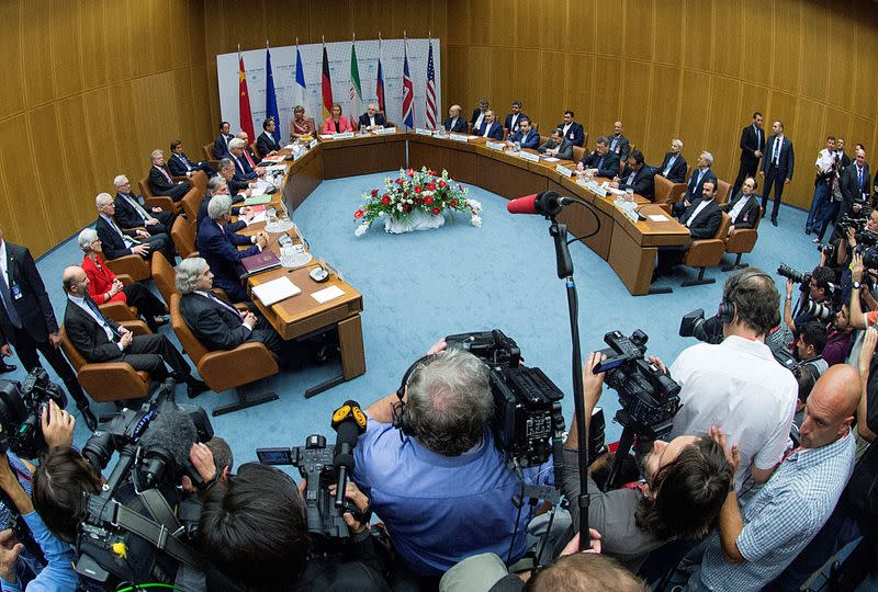 FILE PHOTO: Ministers and officials meet during a plenary session at the United Nations building in Vienna