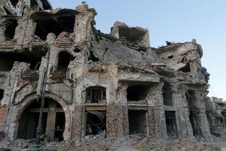 FILE PHOTO: Historic building, that was destroyed during a three-year conflict, is seen in Benghazi
