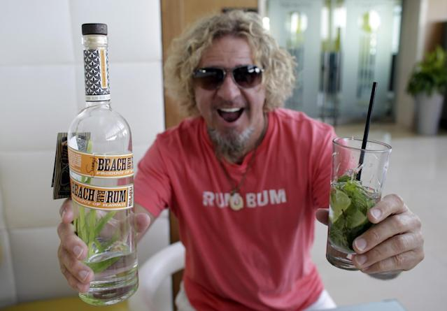 """<p>Former Van Halen frontman Sammy Hagar is no novice in the alcohol business. He had a great run with his own Cabo Wabo tequila, which he sold off in two stages to Gruppo Campari spirit company for a total of $91 million by 2010. Then, he launched Sammy's Beach Bar Rum in Hawaii in November 2011. It's <a href=""""http://www.sammysbeachbarrum.com/our-story/"""" rel=""""nofollow noopener"""" target=""""_blank"""" data-ylk=""""slk:distilled on Maui"""" class=""""link rapid-noclick-resp"""">distilled on Maui </a>by Hali'imaile Distilling Company. (Canadian Press) </p>"""