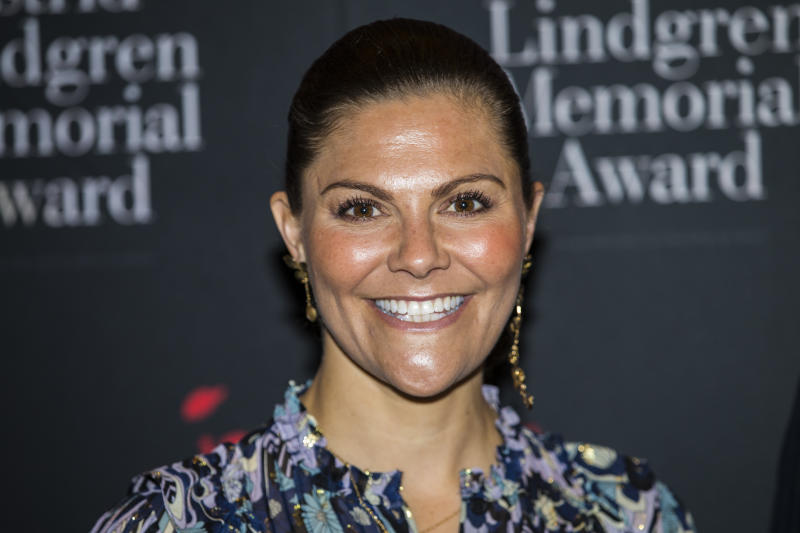 STOCKHOLM, SWEDEN - MAY 27: Crown Princess Victoria of Sweden attends a ceremony for the presentation of the 2019 Astrid Lindgren Memorial Award at the Stockholm Concert Hall on May 27, 2019 in Stockholm, Sweden. (Photo by Michael Campanella/Getty Images)