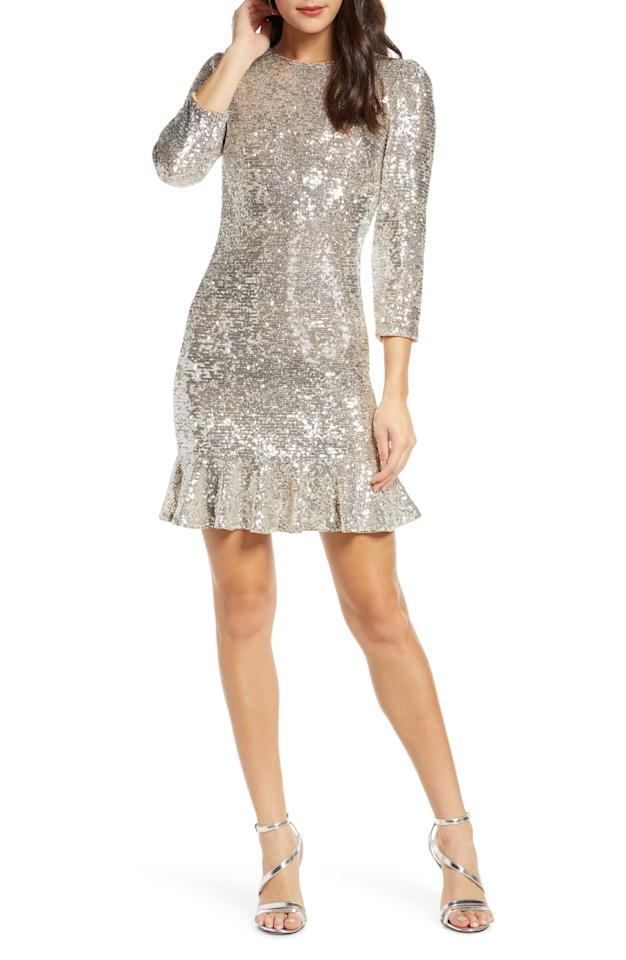 """<p>This <a href=""""https://www.popsugar.com/buy/Ali-amp-Jay-Sparkle-amp-Shine-Sequin-Minidress-503131?p_name=Ali%20%26amp%3B%20Jay%20Sparkle%20%26amp%3B%20Shine%20Sequin%20Minidress&retailer=shop.nordstrom.com&pid=503131&price=158&evar1=fab%3Aus&evar9=45658659&evar98=https%3A%2F%2Fwww.popsugar.com%2Ffashion%2Fphoto-gallery%2F45658659%2Fimage%2F46775187%2FAli-Jay-Sparkle-Shine-Sequin-Minidress&list1=shopping%2Cdresses%2Ccocktail%20dresses%2Cwinter%20fashion&prop13=api&pdata=1"""" rel=""""nofollow"""" data-shoppable-link=""""1"""" target=""""_blank"""" class=""""ga-track"""" data-ga-category=""""Related"""" data-ga-label=""""https://shop.nordstrom.com/s/ali-jay-sparkle-shine-sequin-minidress/5392366?origin=category-personalizedsort&amp;breadcrumb=Home%2FWomen%2FClothing%2FDresses%2FCocktail%20%26%20Party&amp;color=silver%20sequin"""" data-ga-action=""""In-Line Links"""">Ali &amp; Jay Sparkle &amp; Shine Sequin Minidress</a> ($158) is so much fun.</p>"""