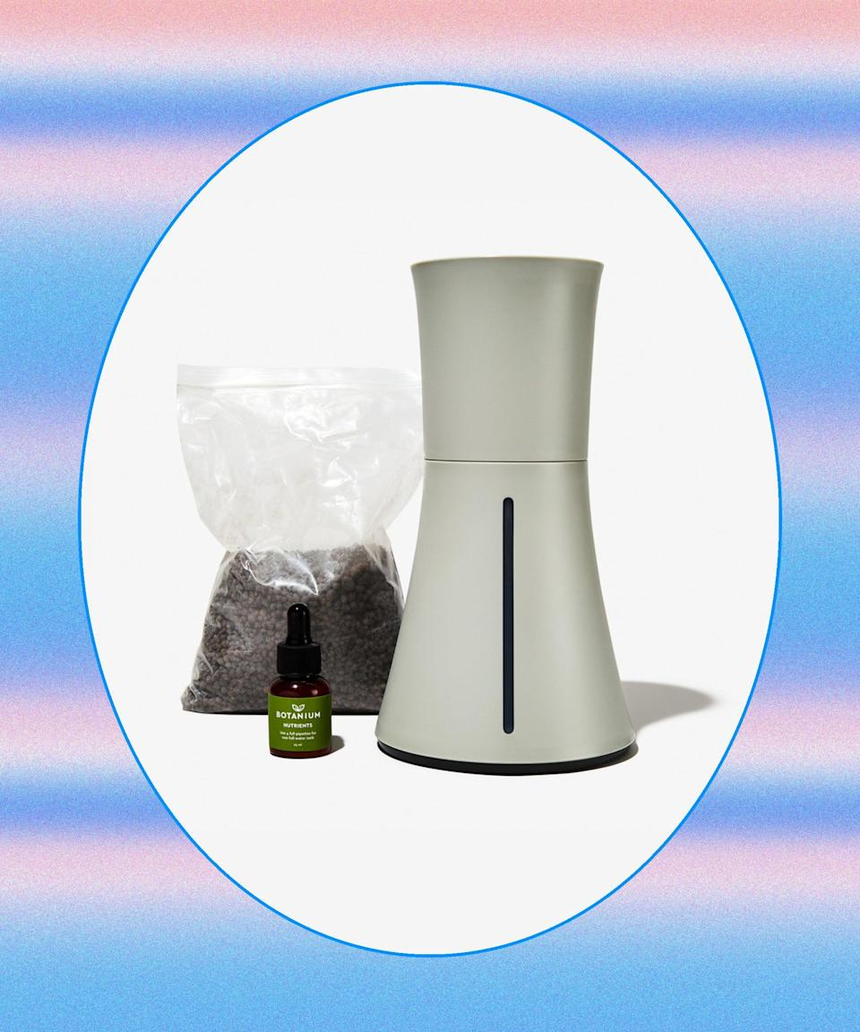 """<h2>Botanium Hydroponic Self-Watering Planter<br></h2>This self-watering planter waters every three hours, then drains and recycles the excess so your herbs' or veggies' roots stay moist. The tank holds enough water to last for weeks — so you won't have to worry about your rosemary kicking the bucket during your girls' trip.<br><br><strong>Botanium</strong> Hydroponic Self-Watering Planter, $, available at <a href=""""https://go.skimresources.com/?id=30283X879131&url=https%3A%2F%2Fwww.bespokepost.com%2Fstore%2Fbotanium-grower-ash-grey"""" rel=""""nofollow noopener"""" target=""""_blank"""" data-ylk=""""slk:Bespoke Post"""" class=""""link rapid-noclick-resp"""">Bespoke Post</a>"""