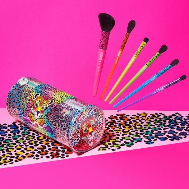 PHOTO: Six synthetic eye brushes with handles in trademark Lisa Frank neon shades. (Morphe X Lisa Frank)