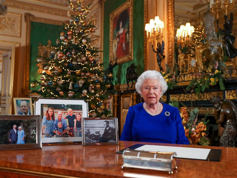 <p>The Queen's Christmas message, 2019</p>Rex Features