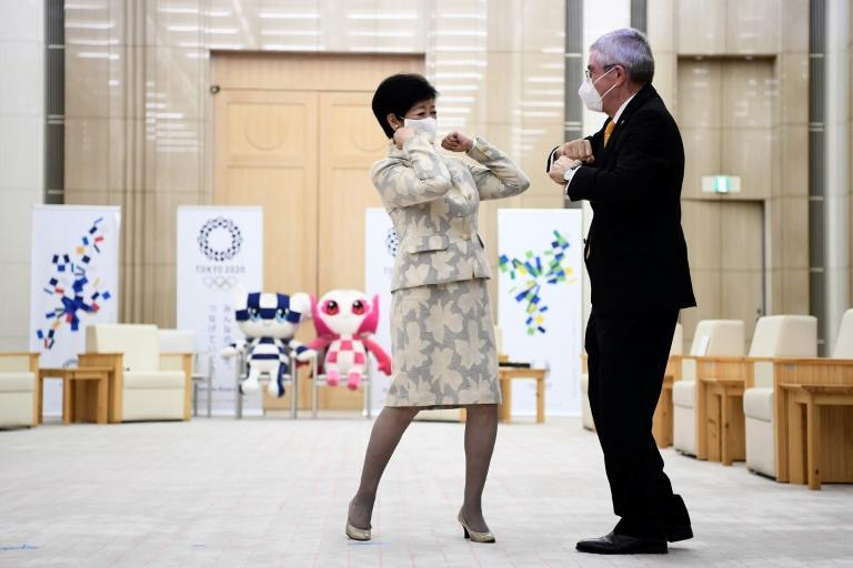 Thomas Bach told Tokyo's Governor Yuriko Koike the IOC was committed to ensuring 'a safe environment for the participants of the Games, but also the Japanese people'
