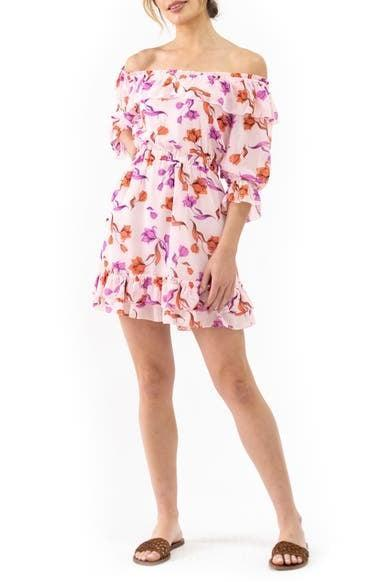 <p>This <span>Lost + Wander Garden of Delight Off the Shoulder Minidress</span> ($79) is an effortlessly stylish choice for brunch.</p>